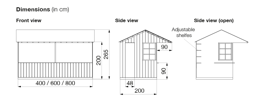 Picture of hut dimensions